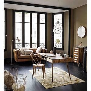 canape vintage 3 places prescott en cuir camel canape With tapis kilim avec canape cuir vintage maison du monde