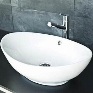 Waschbecken Oval Aufsatz : aufsatz waschbecken keramik oval 38x58cm ~ Orissabook.com Haus und Dekorationen