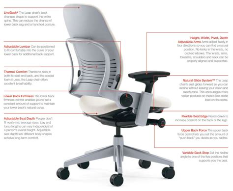 steelcase leap desk chair with headrest whitevan