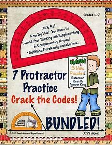 Protractor Practice Crack The Code Activities Bundled