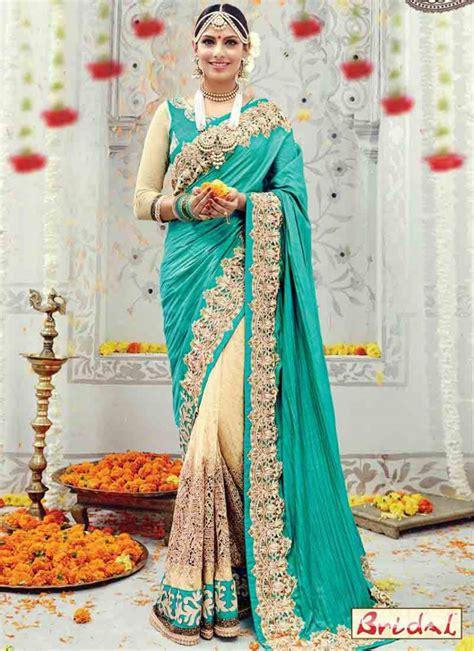 indian bridal wedding sarees  fashioneven