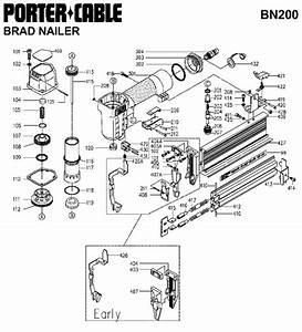 Porter Cable Bn200 Brad Nailer Parts