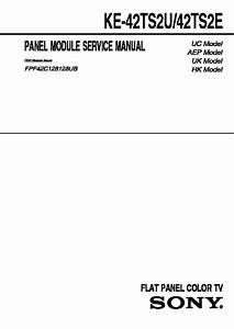 Sony Ke-42ts2e  Ke-42ts2u Service Manual