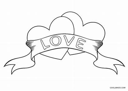 Coloring Pages Heart Hearts Broken Printable Cool2bkids