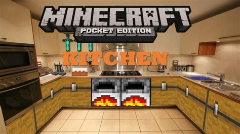 minecraft kitchen furniture minecraft pocket edition build tutorials episode 2 kitchen youtube