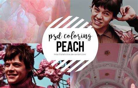 psd coloring  peach  tofallinlxve  deviantart