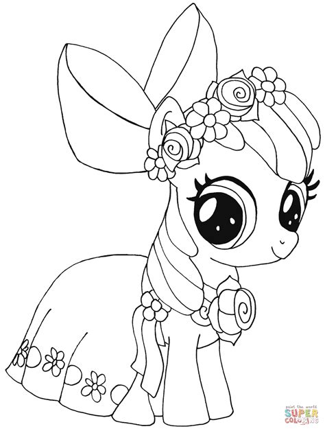My Little Pony Apple Bloom Coloring Page Free Printable