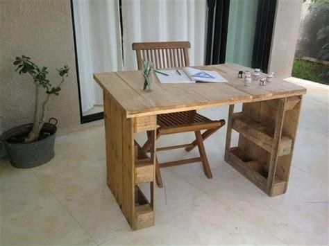 bureau en palette de bois bureau en palette modèles diy et tutoriel pour le