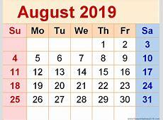 April to December Calendars Collection 2019 Djellabar