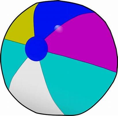 Ball Beach Clip Clipart Beachball Vector Transparent