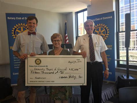 club supports community players studio home rotary club concord nh