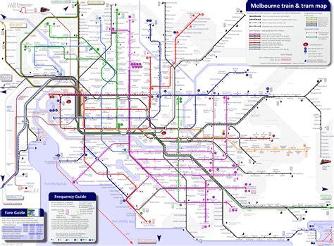 melbourne train  tram map