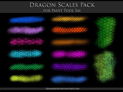 paint tool sai scales pack by zummerfish on
