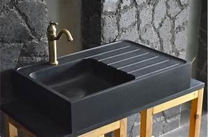 Comment Nettoyer Un Evier En Resine : vier de cuisine pierre x granit noir luxe norway shadow ~ Dailycaller-alerts.com Idées de Décoration