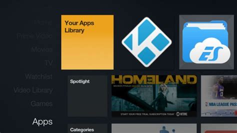 amazon fire tv sideloaded apps  visible   main