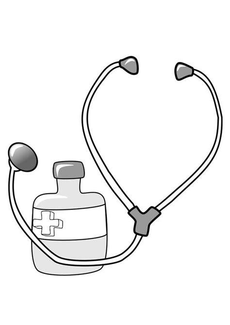 ste da colorare disegno da colorare medicine e stetoscopio cat 22390