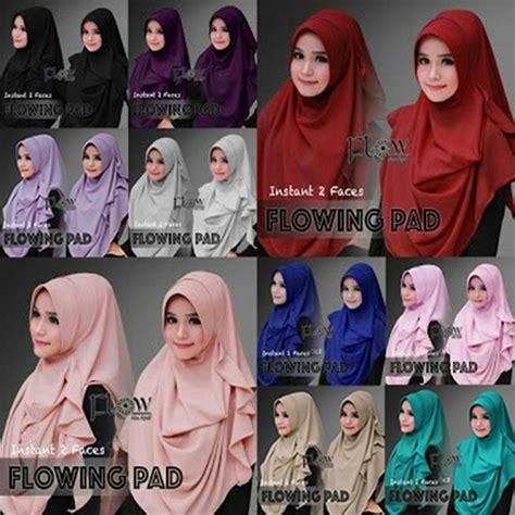jilbab pashmina instan flowing pad langsung pakai