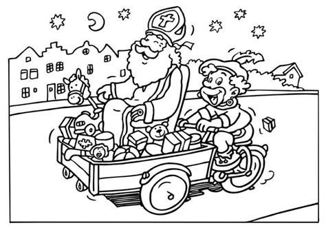 Sinterklaas En Zwartepiet Kleurplaat by Kleurplaat Sinterklaas Kleurplaat Sinterklaas En Zwarte