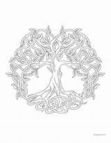 Coloring Mandala Tree Pages Windingpathsart sketch template