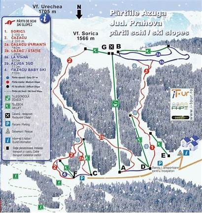 Azuga Partii Schi Harta Ski Sorica Partie
