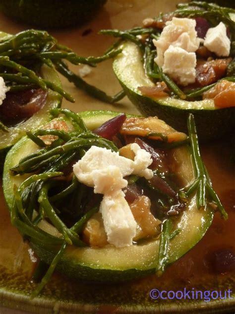 cuisiner salicorne courgettes de farcies à salicorne et au chèvre frais un an pour faire cooking out