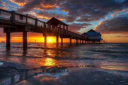 Clearwater Florida Beach Sunset Amazing Beaches Wallpapers