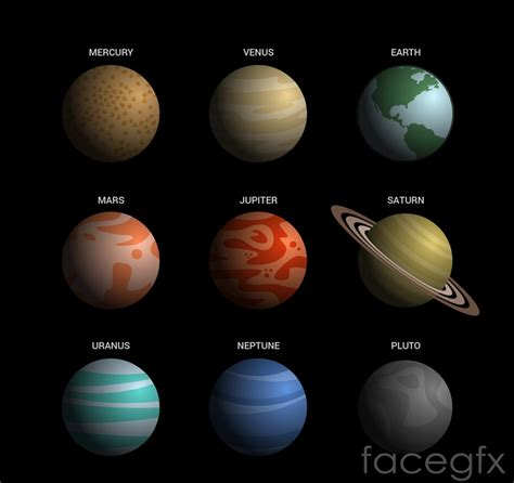 planets clipart nine pencil and in color planets clipart nine