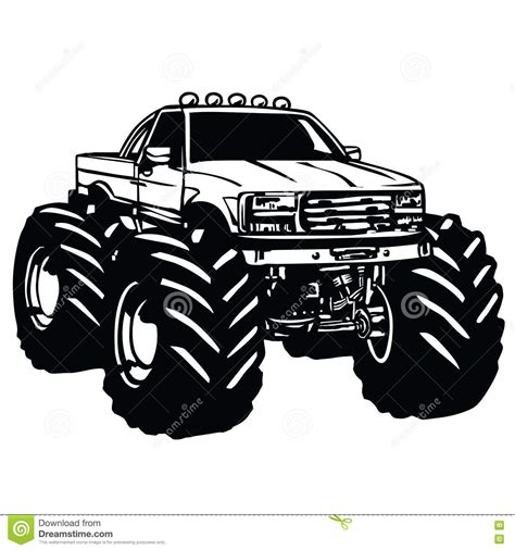 monster trucks races cartoon monster truck bigfoot vector illustration cartoondealer