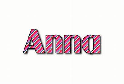 Anna Logos Text Animated