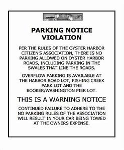 35 notice templates in pdf free premium templates With no parking letter