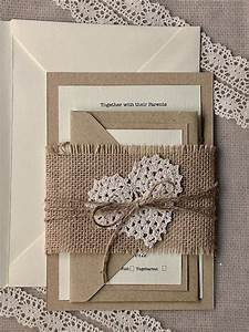 burlap and lace wedding invitations tulle chantilly With michaels lace wedding invitations