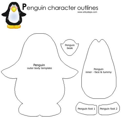 penguin craft template 95 best penguin crafts images on penguin craft penguin and