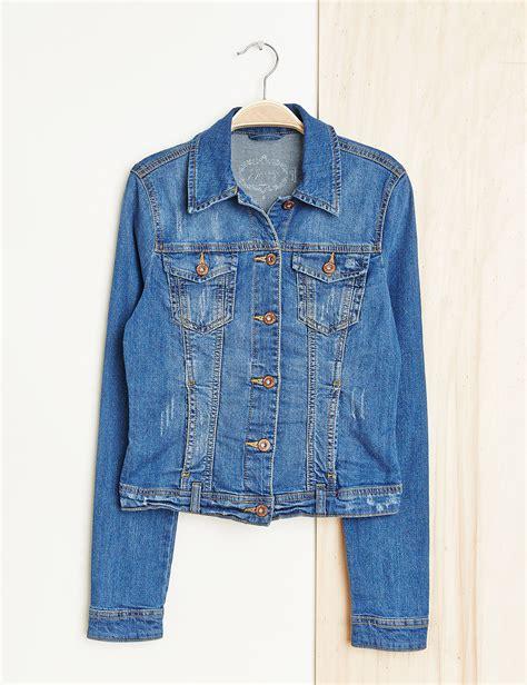 veste en jean troué veste en jean medium blue femme jennyfer