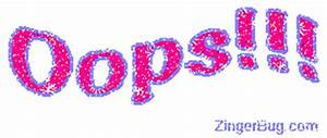 Oops Pink Purple Glitter Wiggle Glitter Graphic, Greeting ...