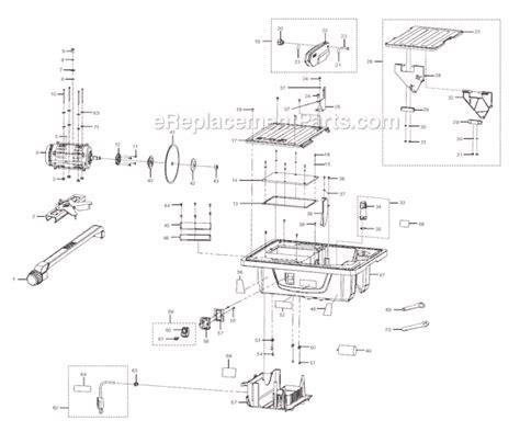 ryobi 7 tile saw assembly ryobi ws720s parts list and diagram ereplacementparts