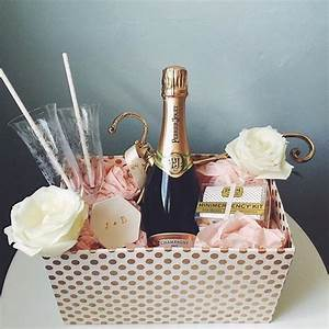 we envy the bride and groom to be who received this With diy wedding gift basket
