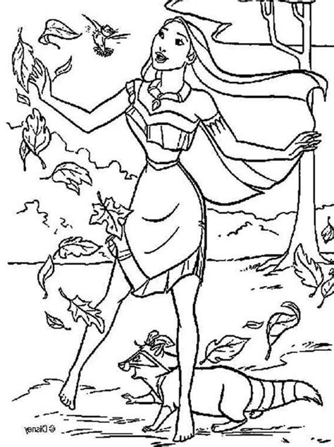 pocahontas coloring pages    print