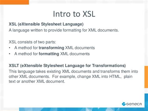 Make Your Data Pretty With Xsl Extensible Stylesheet