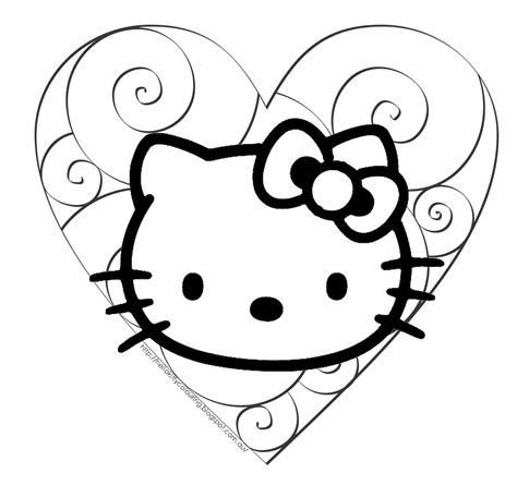 Hello Kitty Valentine's Coloring Pages Wallpaper Desktop