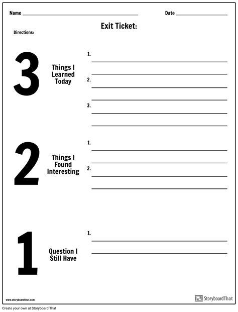 3 2 1 worksheet exit ticket 3 2 1 storyboard by worksheet templates