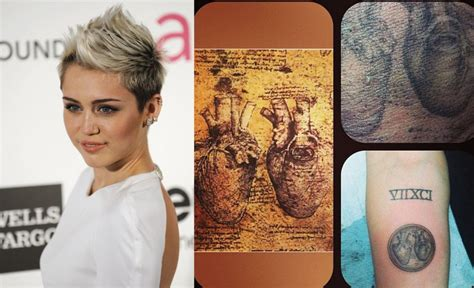 miley cyrus flaunts da vinci heart tattoo  explains