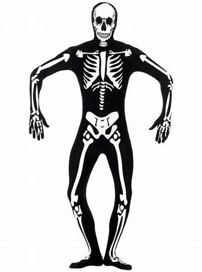Skeleton Dark Glow Skin Costume Funidelia Second