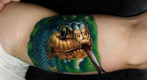 Realistic 3D cobra tattoo on arm | Rocking the Ink ...
