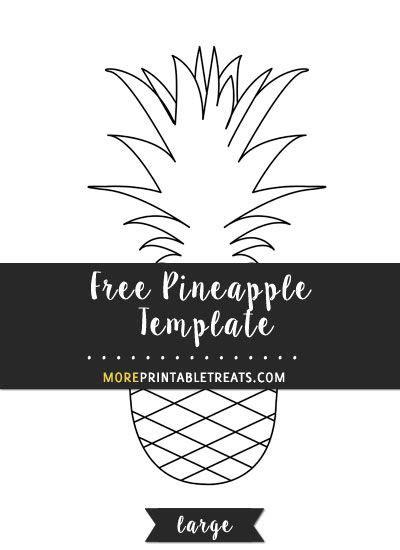 pineapple template large pineapple template