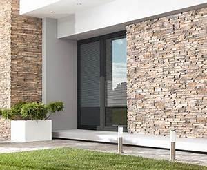 Pierre Facade Exterieur : parement pierre int rieur naturelle stegu ~ Dallasstarsshop.com Idées de Décoration