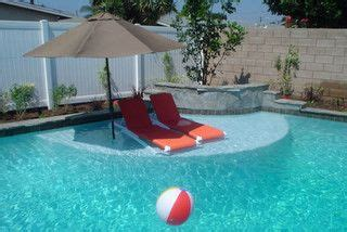 Tanning In The Backyard - back yard ideas shallow tanning ledge in the pool