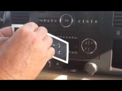 worn peeling flaking ac climate control button repair fix