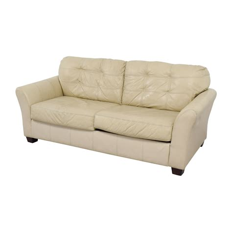 used leather sofa prices 74 off ashley furniture ashley furniture cream leather