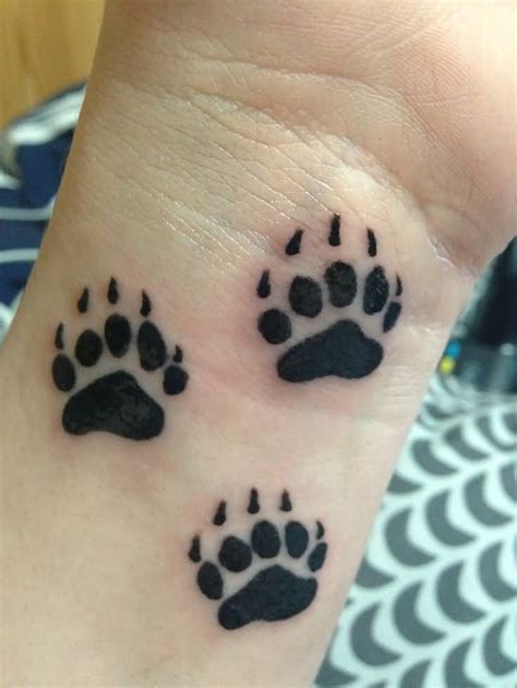 paw tattoo images designs