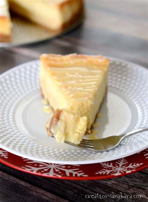 Dulce de Leche Cheesecake Recipe - Creations by Kara